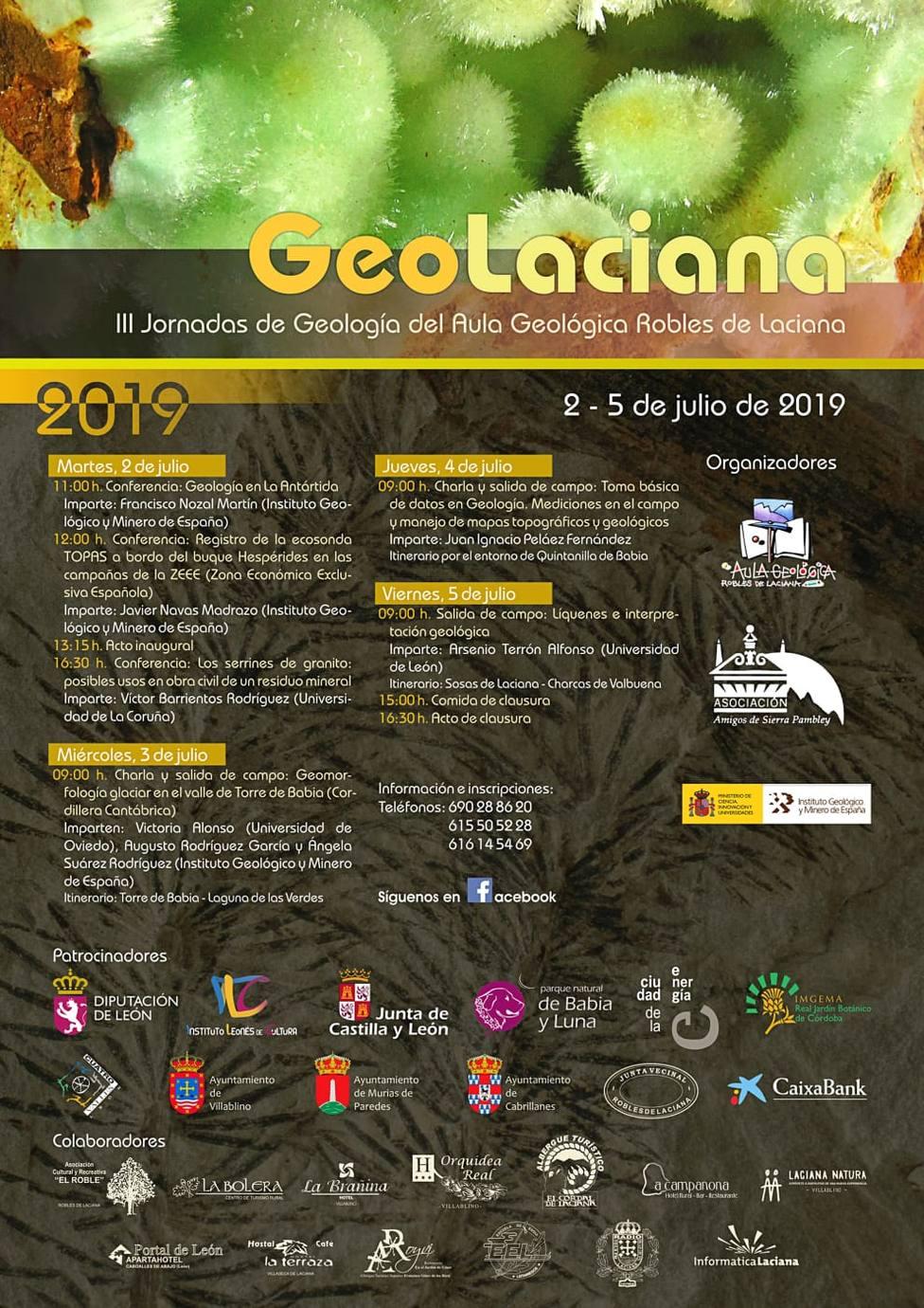"""Este martes 2 de julio, comenzarán las III Jornadas de Geología: """"Geolaciana"""""""