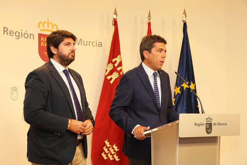 Reunión entre el Presidente de la Diputación y el Presidente de la Región de Murcia (Diputación)