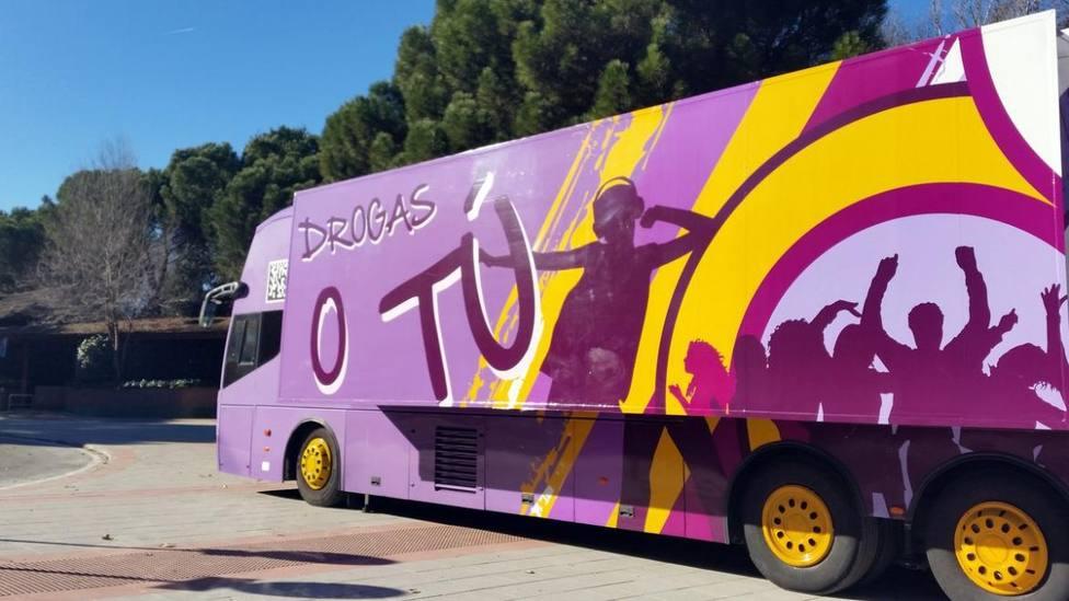 Autobús de la campaña Drogas o tú