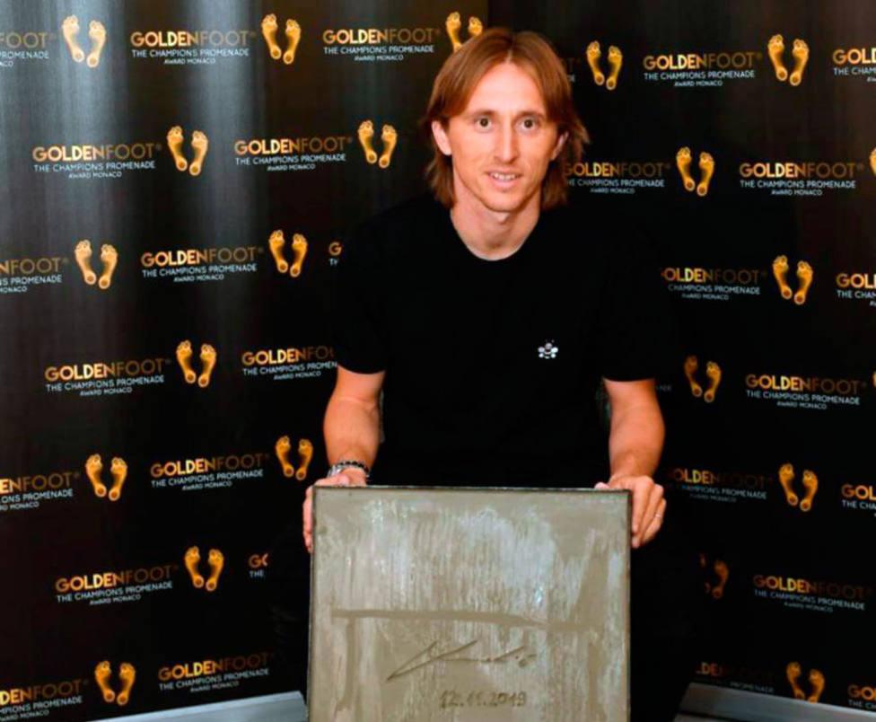 Modric gana el 'Golden Foot'