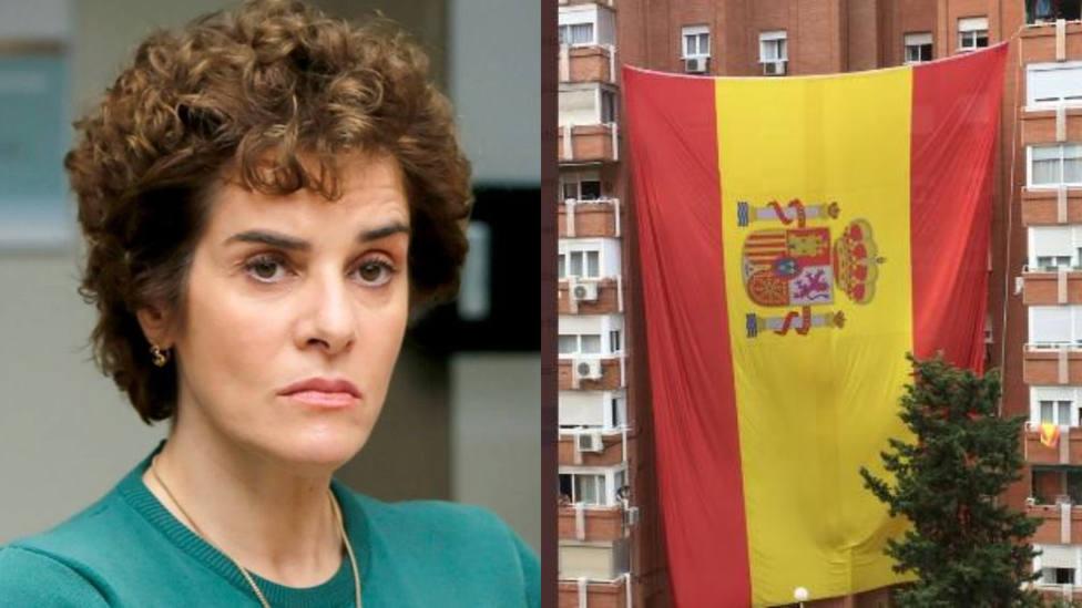 Anabel Alonso y la bandera de España