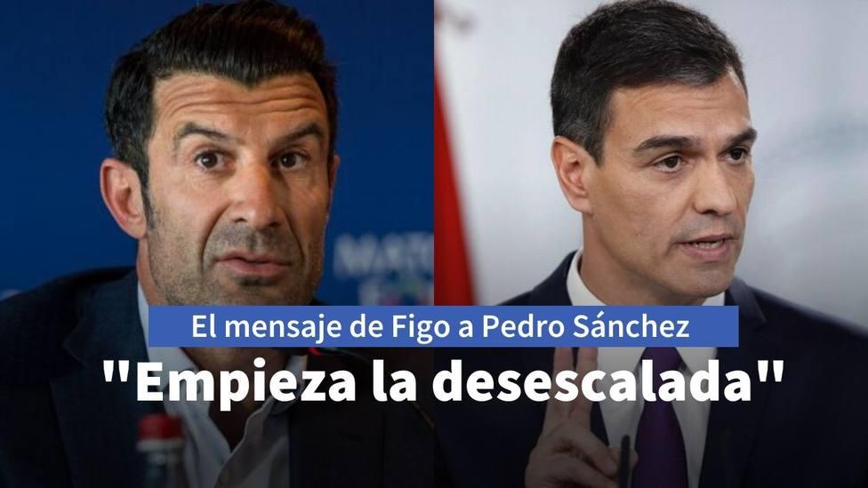 Figo y Pedro Sánchez