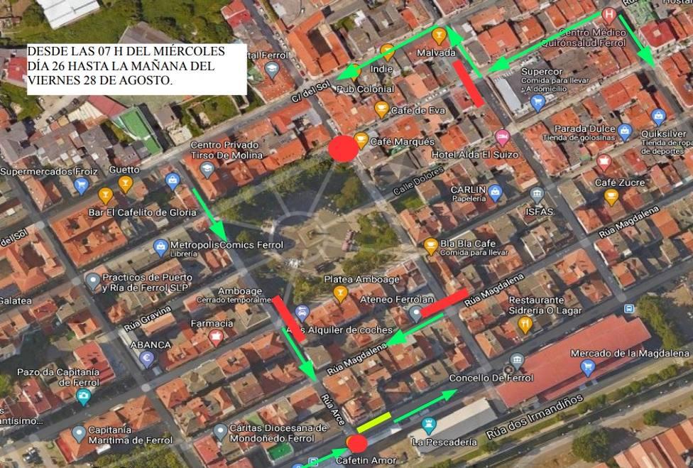 Plan de reparación de losas del barrio de la Magdalena - FOTO: Concello Ferrol