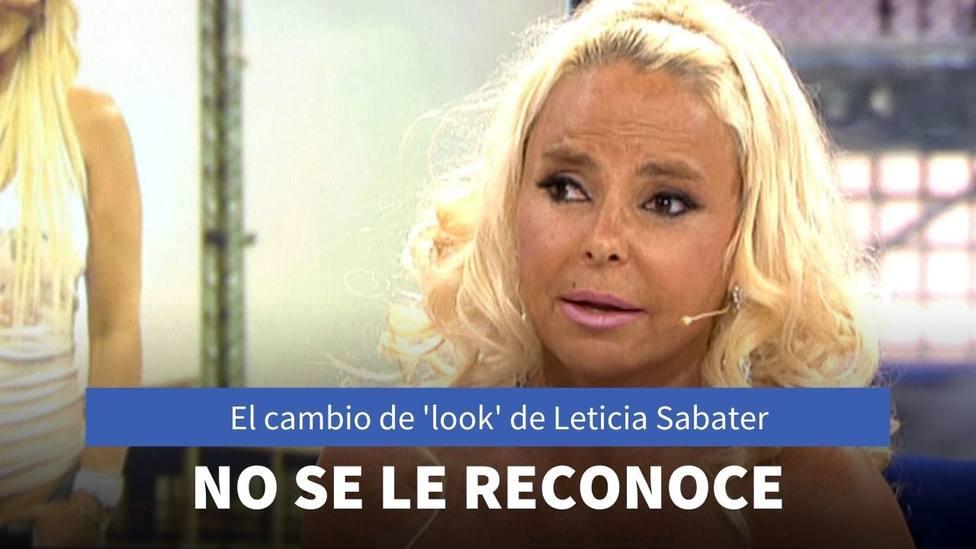 Leticia Sabater reaparece en 'Sálvame' con un cambio de 'look' que ha dejado a todos sin palabras