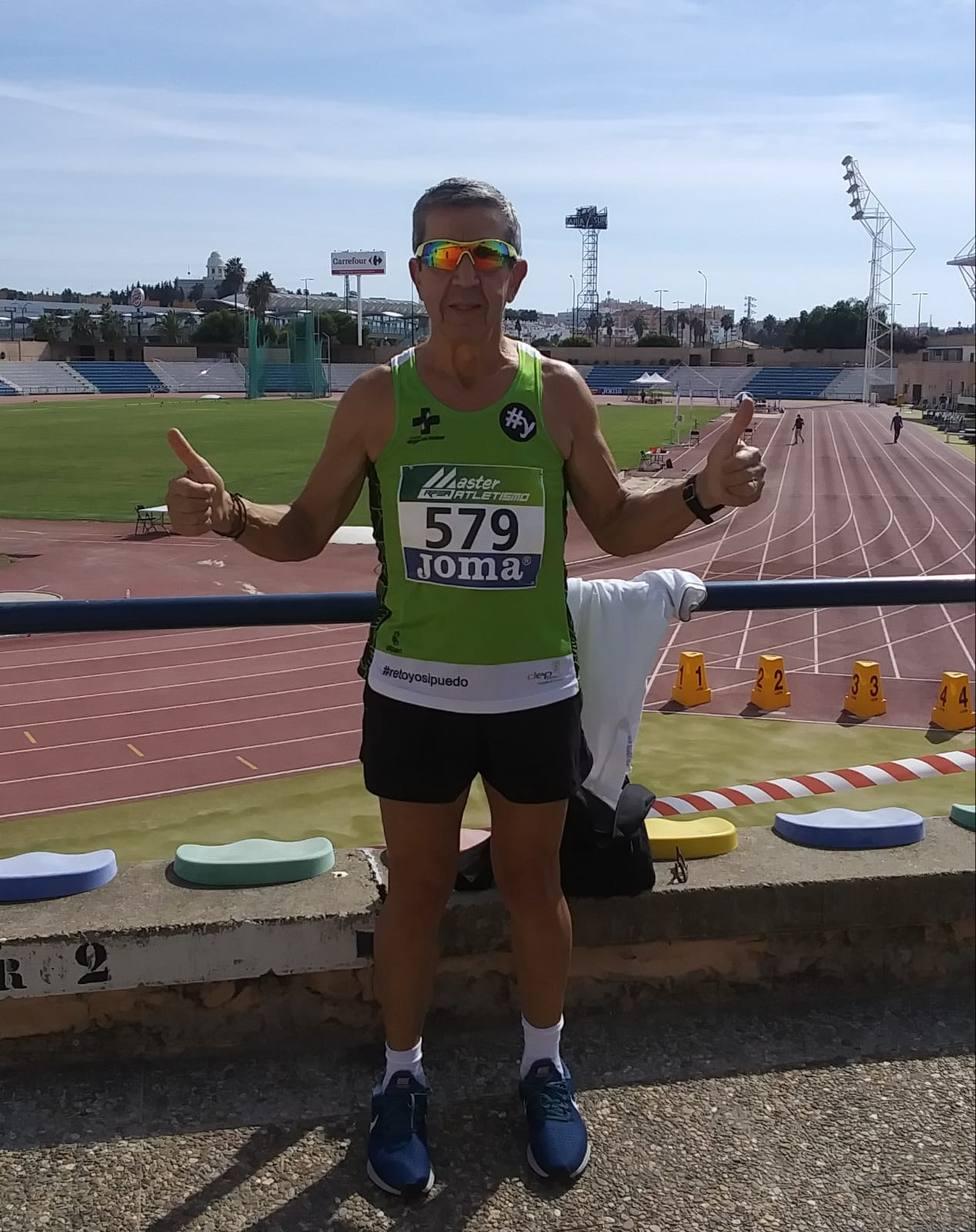 Domingo Pérez, quinto clasificado en el 5.000 metros lisos del Campeonato España Máster