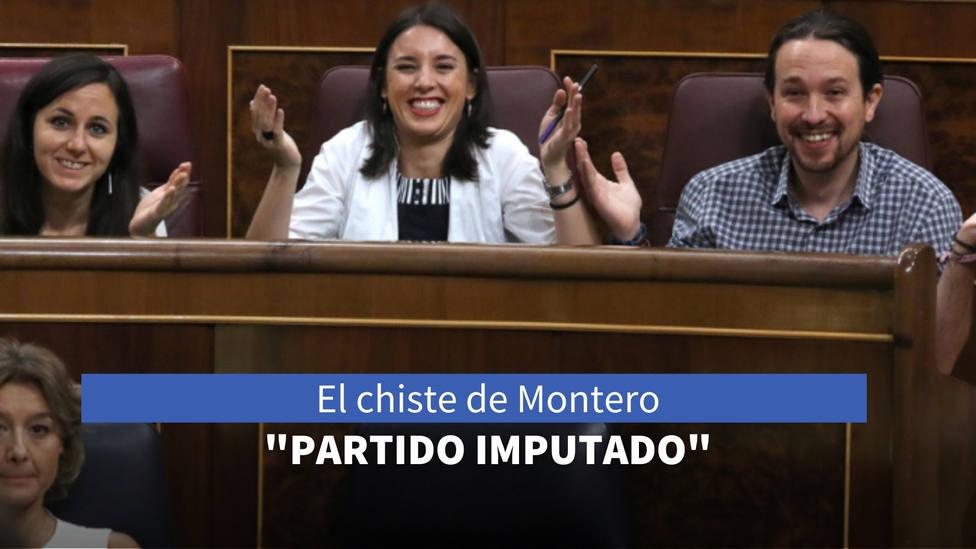 El chiste de Irene Montero sobre el PP que se le vuelve en contra: La del partido imputado...
