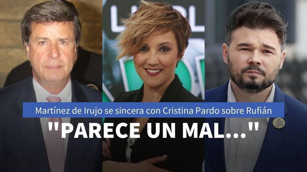 Cayetano Martínez de Irujo habla alto y claro sobre Rufián y su papel como socio de Sánchez