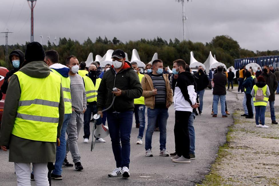 Los operarios ya comenzaron en esta zona la manifestacion el pasado sábado - FOTO: EFE / Kiko Delgado