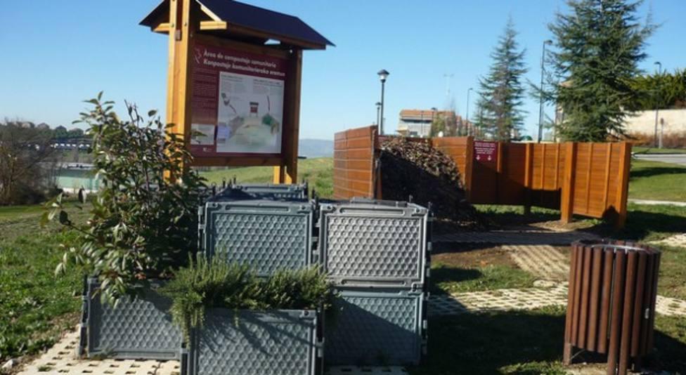 Área de compostaje comunitario como la que podría funcionar en Barreiros desde el año próximo