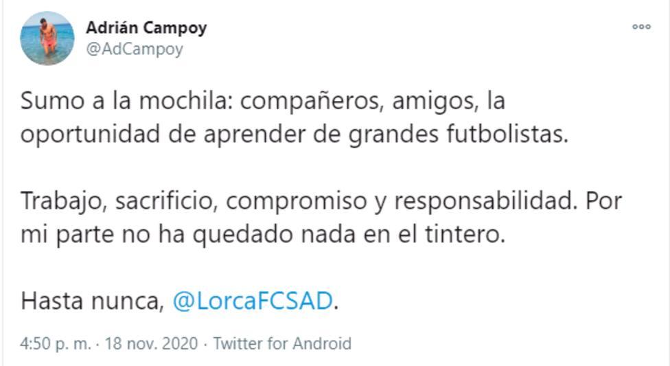 El Lorca FC viajará sin entrenador al Ángel Celdrán