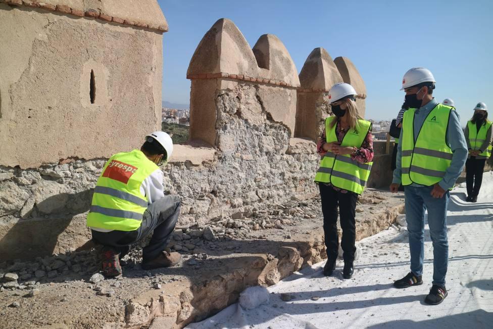 Comienzan las obras de restauración de la Muralla Norte del Primer Recinto de la Alcazaba