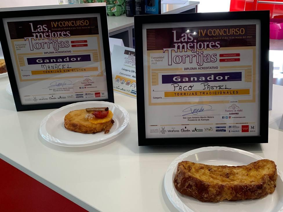 Las torrijas Ganadoras: Tradicional (la de Paco Pastel) y Sin Gluten