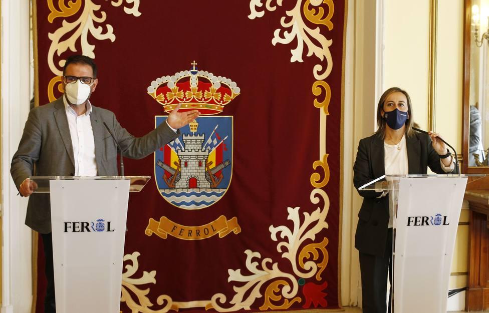 Ángel Mato y Ethel Vázquez en rueda de prensa - FOTO: Concello de Ferrol