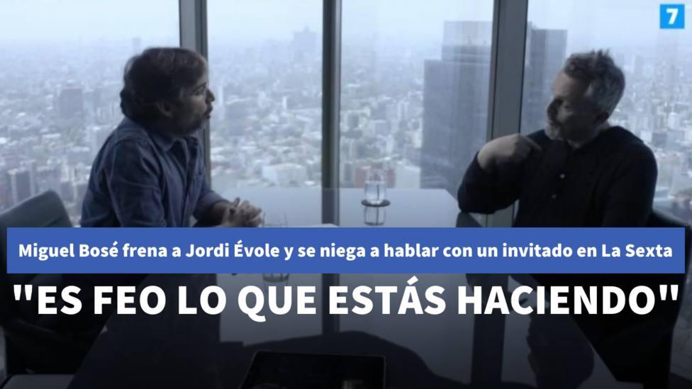Miguel Bosé frena a Jordi Évole