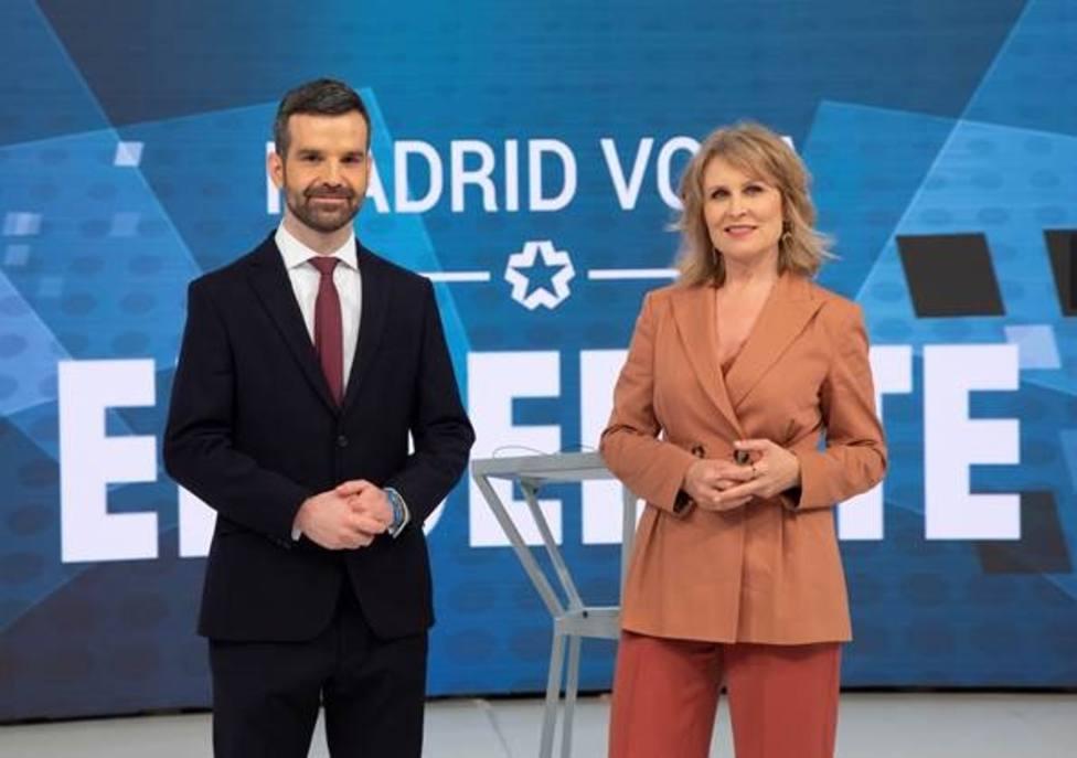 Jon Ariztimuño y María Rey moderarán el debate entre los seis candidatos al 4M en Telemadrid este miércoles