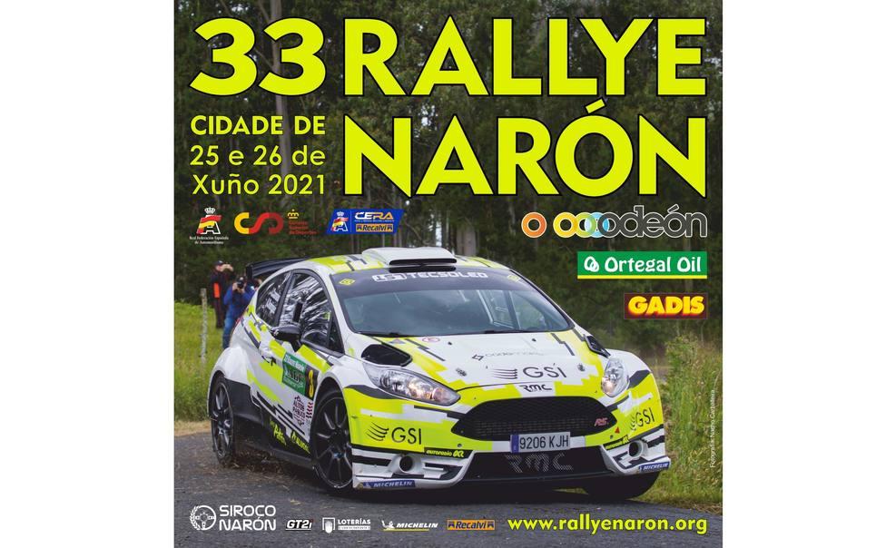 Cartel de la edición de este año 2021 del Rallye Cidade de Narón - FOTO: Cedida