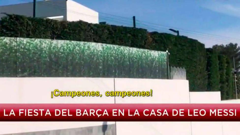 Fiesta en la casa de Leo Messi
