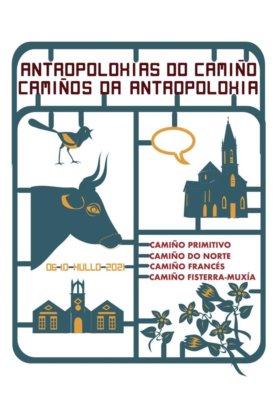 Cartel de la peregrinación científica por los caminos de Santiago