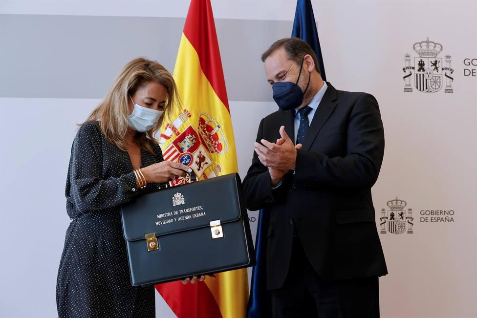 La nueva ministra de Transporte Raquel Sánchez recibe la cartera de José Luis Ábalos