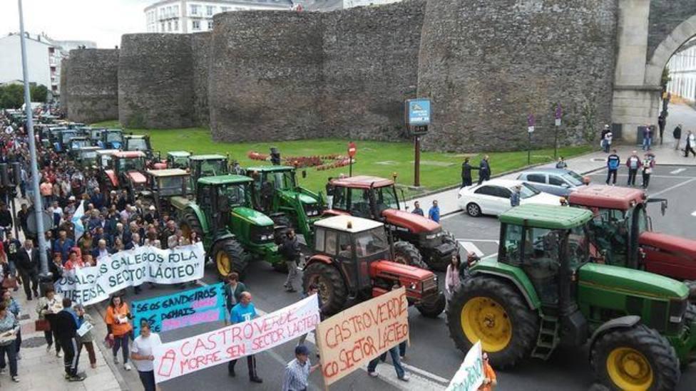 Tractoradas en el año 2015 en la Ronda da Muralla