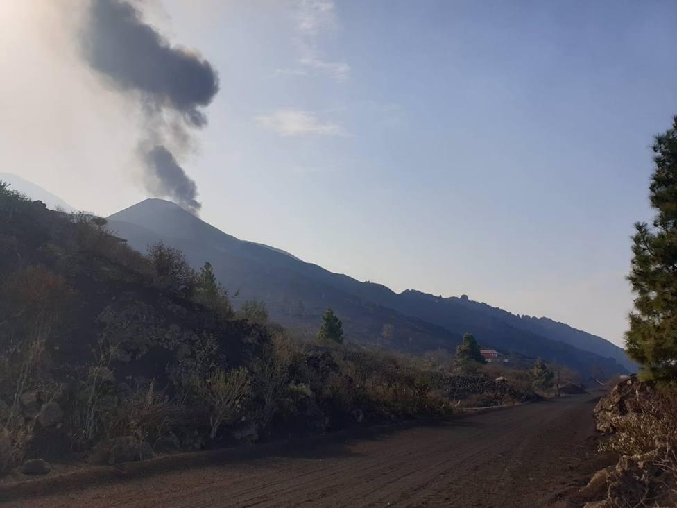 Se registra un nuevo derrumbe en el flanco norte del volcán de La Palma