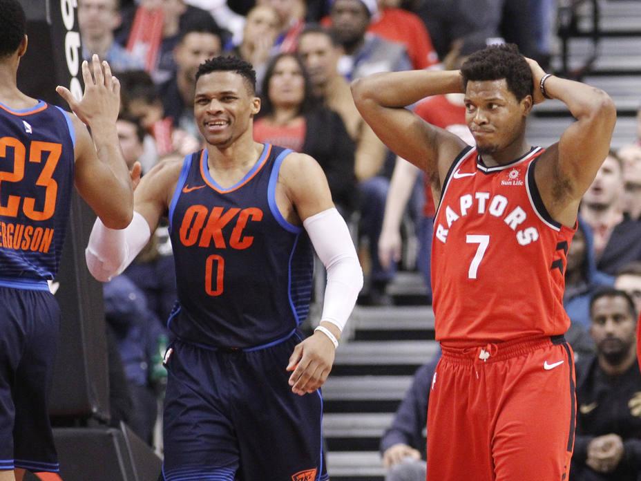 Westbrook acaba con la racha triunfal de los Raptors