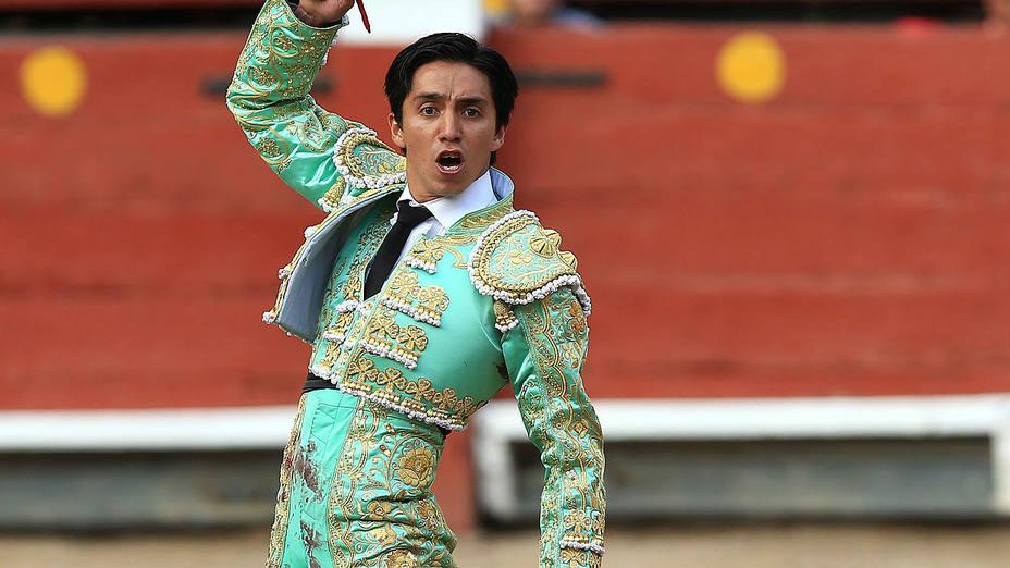 Juan Carlos Cubas durante su actuación este domingo en la primera corrida de Lima