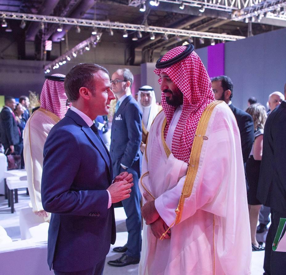 Bin Salman: No te preocupes; Macron: Sí, me preocupo