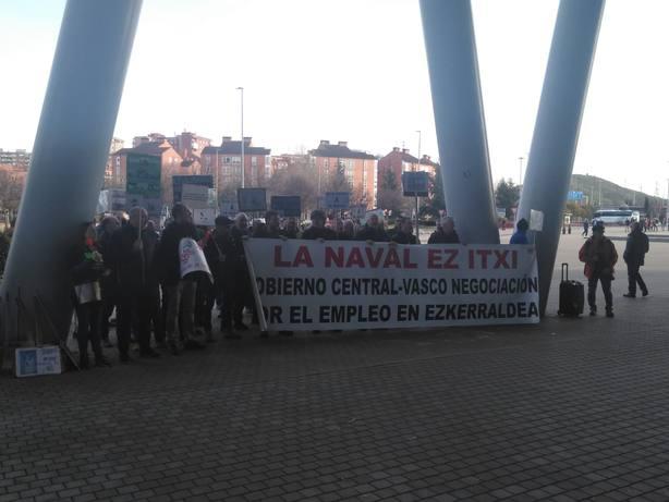Pedro Sánchez no recibirá a los trabajadores de La Naval concentrados en Barakaldo por tener la agenda muy completa