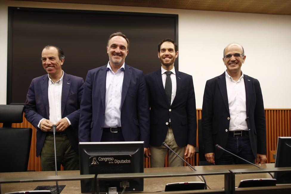 Rueda de prensa de los diputados de Navarra Suma en el Congreso de los Diputados