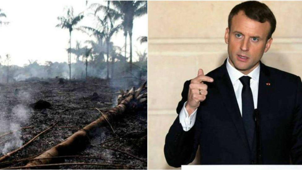 Macron califica el incendio de la Amazonia como crisis internacional y se tratará con urgencia durante el G7