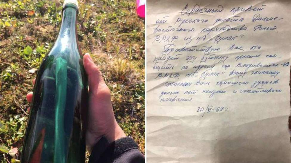 Hallan en una playa de Alaska una botella lanzada en aguas rusas hace cincuenta años