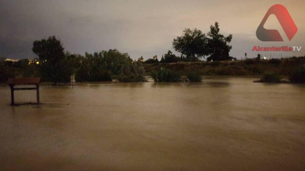 El río al paso por Alcantarilla