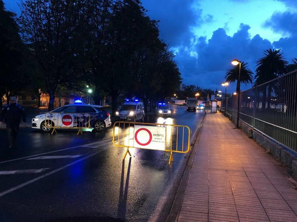 La zona de a Praza Vella también fue otro de los puntos controlados - FOTO: Concello de Ferrol