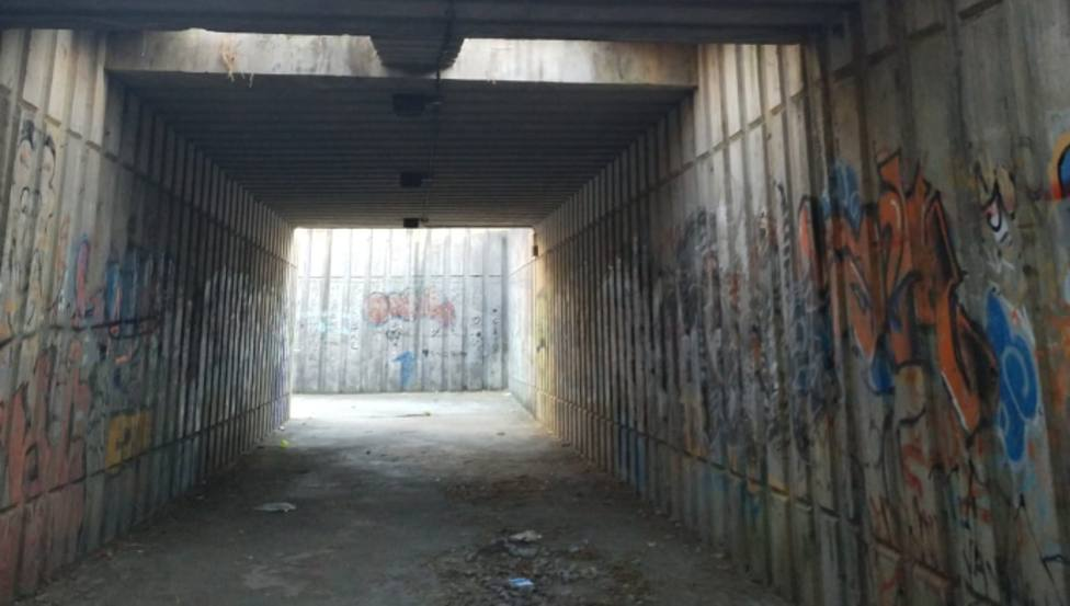 Túnel peatonal por debajo de la carretera de As Pías, en Caranza - FOTO: Cedida
