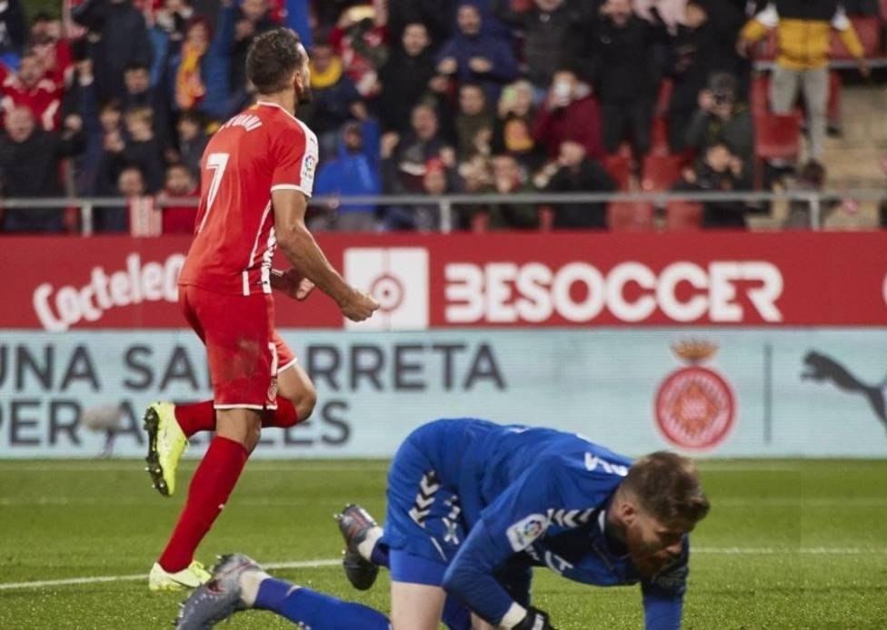 Stuani da la victoria a un Girona que se mete en play-off