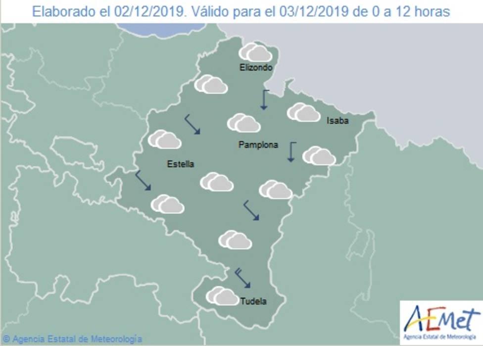 Mapa de Navarra de AEMET