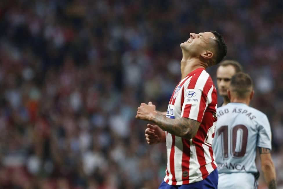 Spanish La Liga soccer mach Atletico Madrid vs Celta