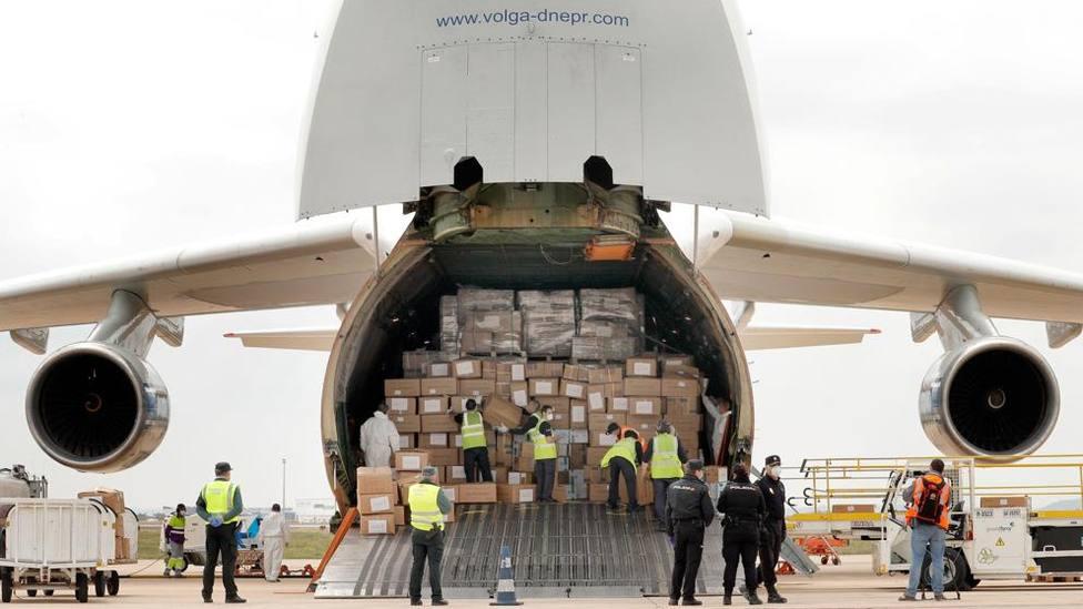 Un quinto avión procedente de China con 66 toneladas de material llegará esta tarde-noche a Manises