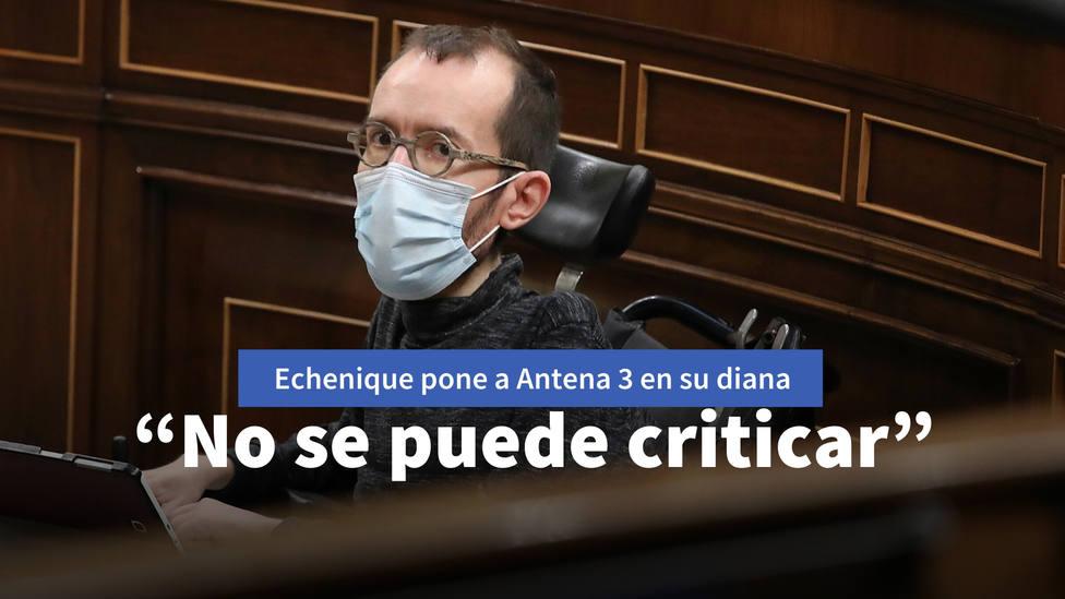 """Echenique ataca de nuevo a los informativos de Antena 3 y se hace la víctima: """"No se puede criticar"""""""