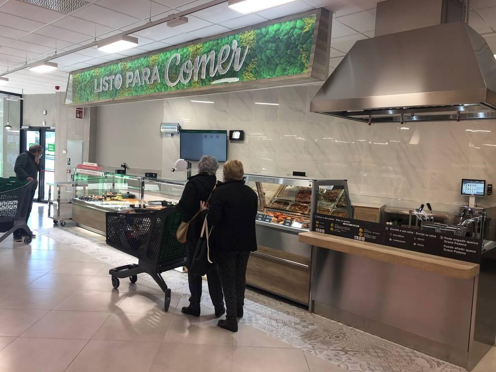 El nuevo Mercadona de Vilar do Colo cuenta incluso con la sección Listo para comer - FOTO: Mercadona