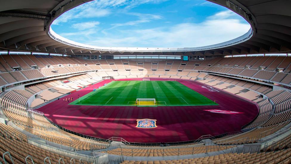 Imagen del estadio de La Cartuja, en Sevilla. EFE