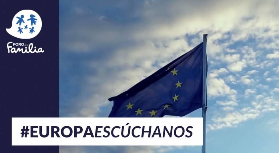 El Foro de la Familia hace el lanzamiento de la campaña #EuropaEscúchanos