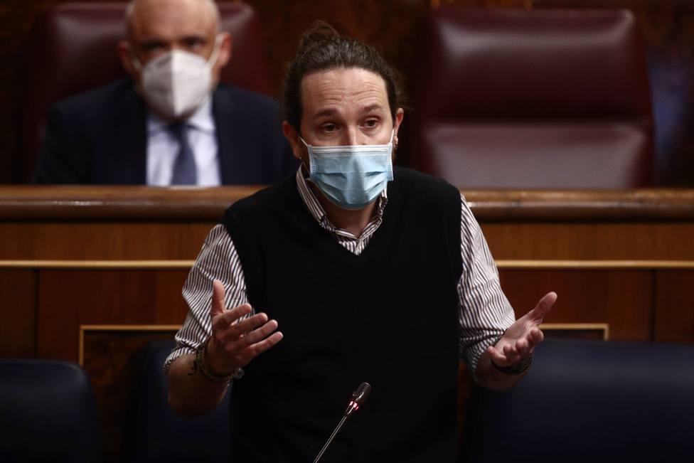 Pablo Iglesias en una Sesión de Control al Gobierno en el Congreso de los Diputados