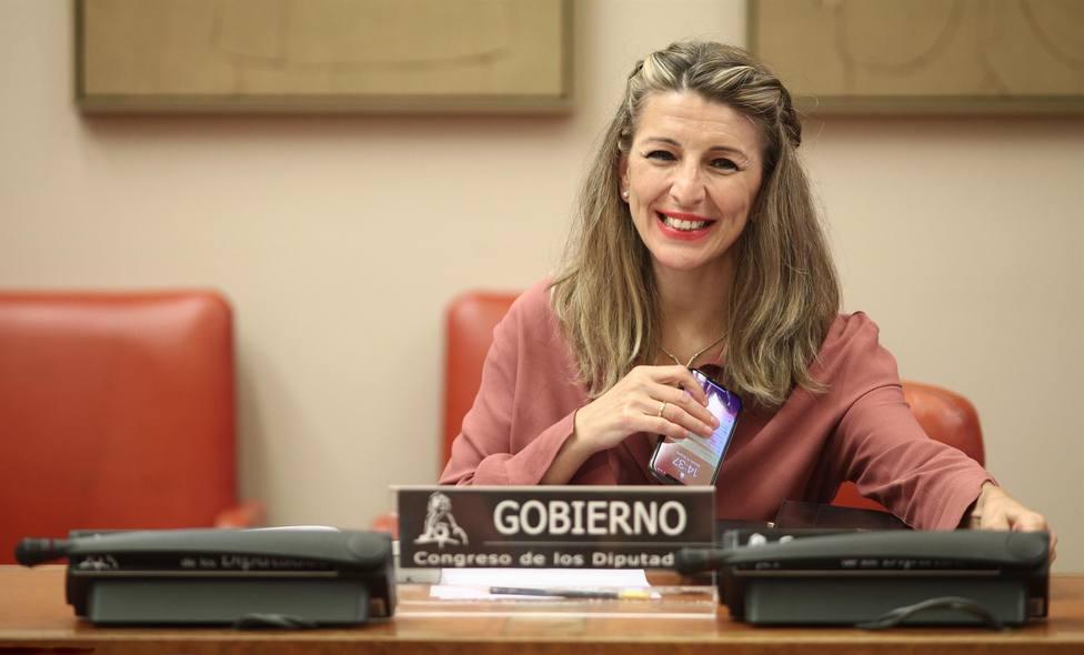 La ministra de Trabajo y Economía Social, Yolanda Díaz. FOTO: Eduardo Parra, Europa Press