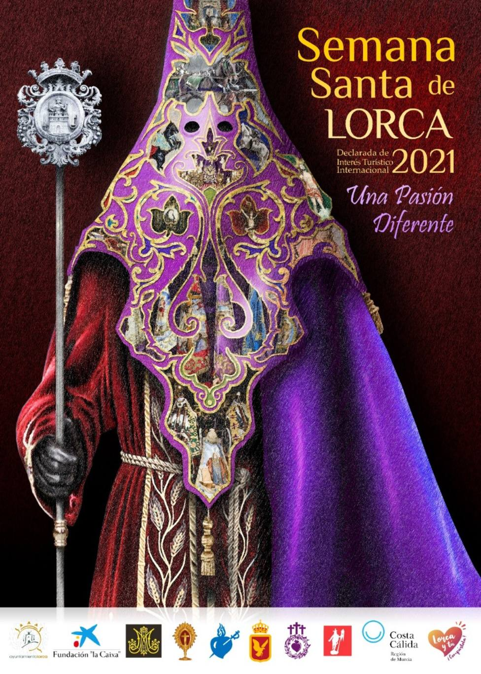 El bordado como protagonista del cartel anunciador de la Semana Santa de Lorca 2021