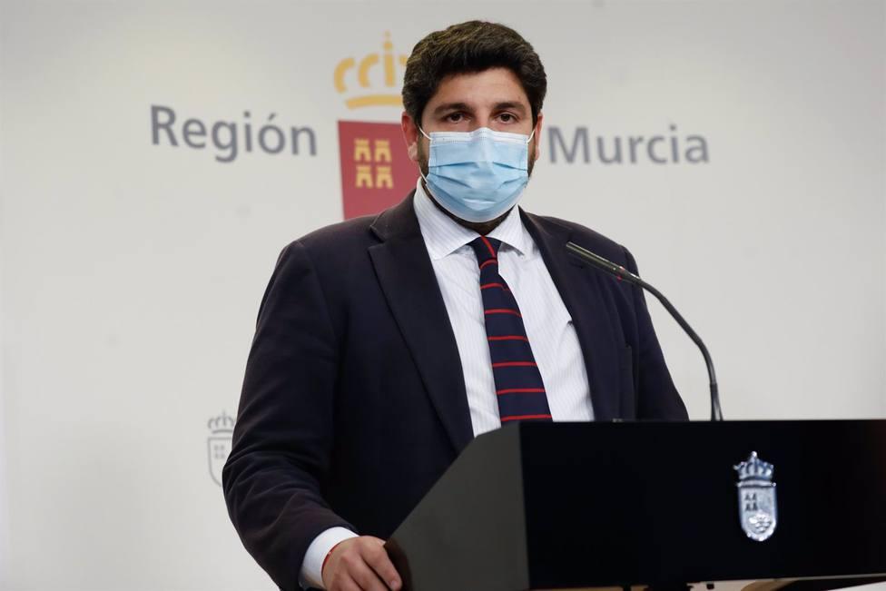 Fernando López Miras, presidente de la Comunidad de Murcia