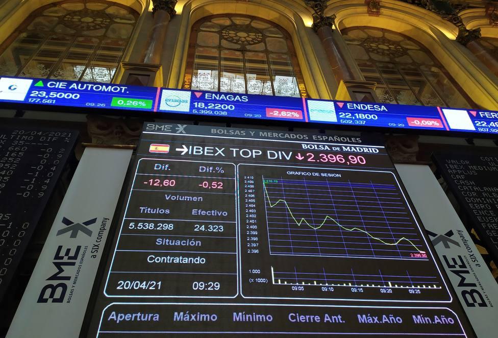 La Bolsa siente vértigos y corrige con rapidez desde sus máximos de doce meses