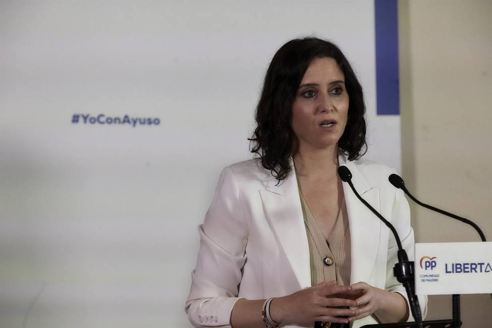 La presidenta de la Comunidad de Madrid, Isabel Díaz Ayuso - Jesús Hellín - Europa Press