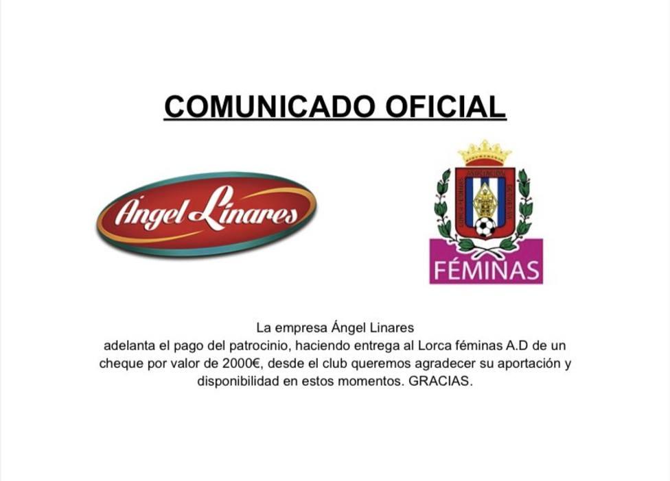 Los patrocinadores ayudan al Lorca Féminas